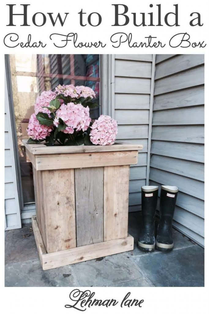 Sharing all my Tips & Tricks for How to Make Easy DIY Cedar Flower Planter Boxes from Cedar Wood Boards on a Budget with Pictures. #flowerplanters #diyprojects https://lehmanlane.net