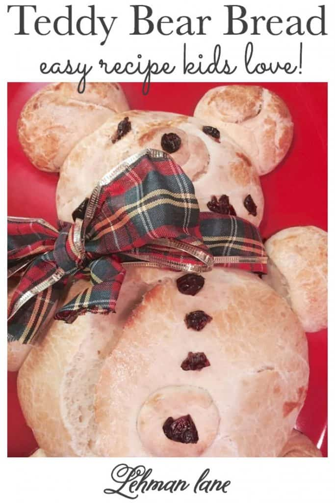 Sharing our Family's Favorite Recipe for Teddy Bear Bear Bread which is a Christmas Eve tradition that our kids LOVE!   #teddybear #bread https://lehmanlane.net
