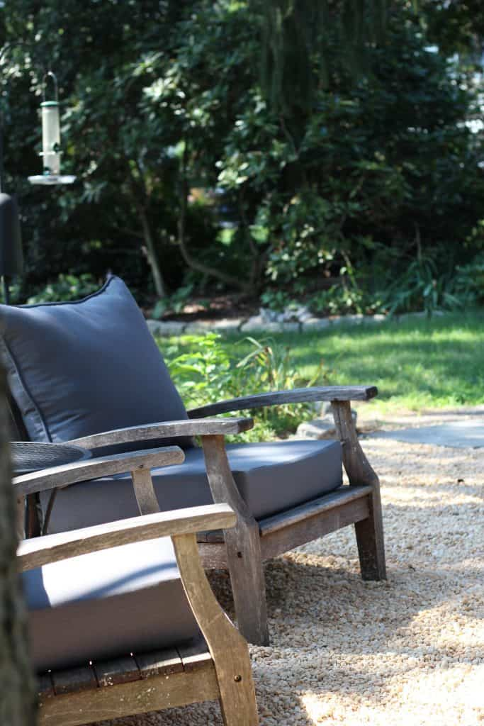 Sharing all the details of how to build an inexpensive & awesome DIY pea gravel patio for the backyard with easy DIY ideas tips & step by step before & after photos. #peagravelpatio https://lehmanlane.net